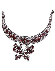Qiyun Vivid Butterfly Pendant Rhinestone Vintage Retro Tibet Silver Bib Necklace Papillon Vives, En Argent Mille sime Collier