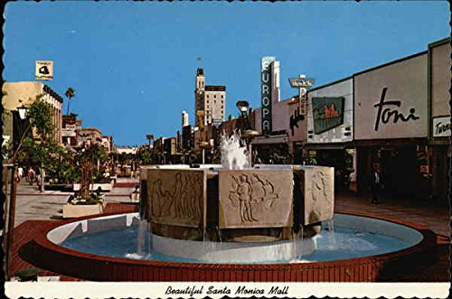 Santa Monica Mall Santa Monica, California Original Vintage - Mall Monica