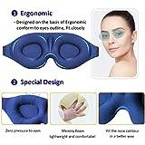 MZOO Sleep Eye Mask for Men Women, 3D Contoured Cup