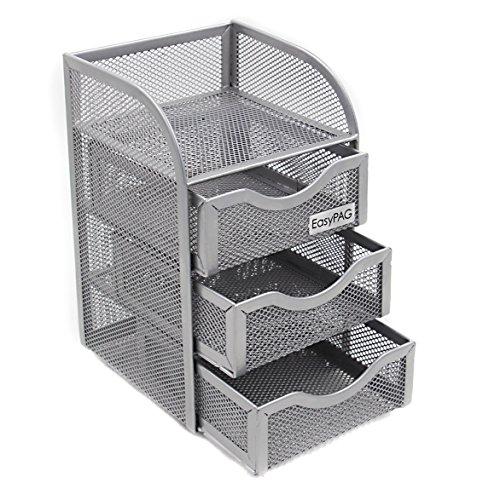 EasyPAG Mesh Desk Organizer 3 Drawer Mini Hutch, ()