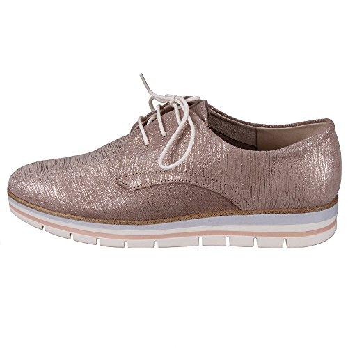 Marco Tozzi - Zapatos de cordones de Piel para mujer dorado