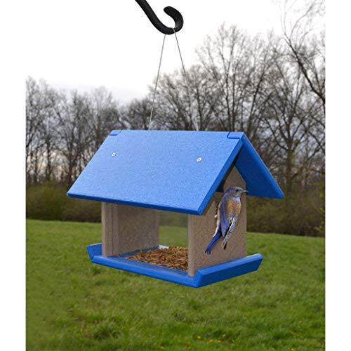 - Songbird Essentials Mealworm Feeder Blue/Grey