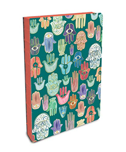 Studio Oh! Hardcover Compact Coptic-Bound Journal Available in 5 Designs, Justina Blakeney Hamsa from STUDIO OH!