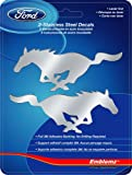 Chroma Graphics 1201 Silver SM Ford Mustang 2pc Stainless Emblem, 2 Pack
