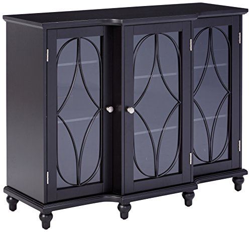 Buffets And Sideboards (Kings Brand Furniture Wood Storage Sideboard Buffet Cabinet Console Table, Black)