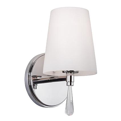 Feiss vs53001 ch 1 bulb vanity strip light fixture chrome finish feiss vs53001 ch 1 bulb vanity strip light fixture chrome finish mozeypictures Gallery