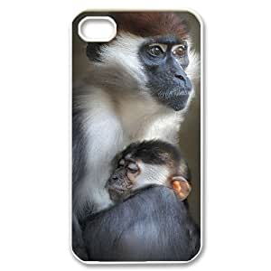 Cute monkey Personalized Cover Case with Hard Shell Protection for Iphone 4,4S Case lxa#989859