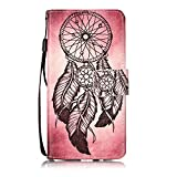 LV3 Case,IVY K8 2017 PU Leather Case Wallet Phone Case [Dreamcatcher][Kickstand Function][Wrist Strap][Double Sided Design] For LG LV3/Aristo/V3/K8 (2017)/Fortune/Phoenix 3/Risio 2