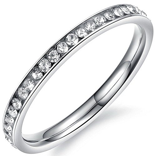 Channel Set Gemstone Ring - 7