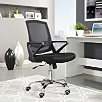 Modway Proceed High-Back Nylon and Mesh Office Chair on Dual-Wheel Casters In Black