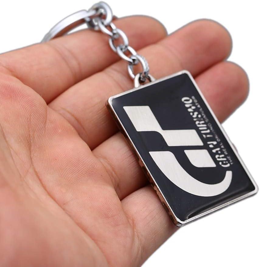 guodong Gran Turismo GT Llavero Juego Caliente Colgante Llavero de Metal Titular Hombres Coche Mujer Bolso Llavero