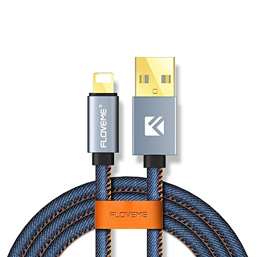 Floveme USB Cable Accessories Cables for Apple Phone iPhone.  Blue
