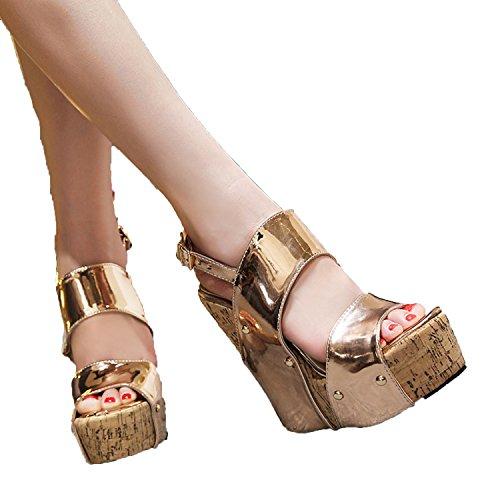 Good-memories 2018 Summer Women Bohemia Wedge Sandals Shoes Woman Buckle Strap Casual Gladiator Wedg