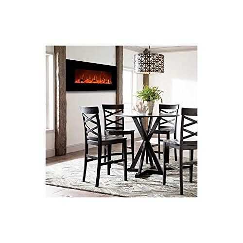Gibson Living Liberty 50 Inch Electric Wall Mounted Fireplace in Black