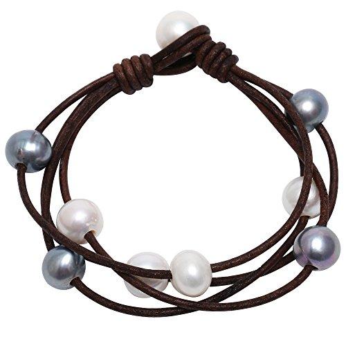 Pearl Beaded Wrap Bracelet - 1