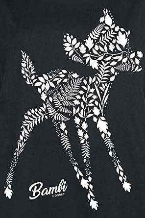 Bambi Botanics T-Shirt schwarz
