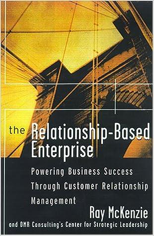 Buy The Relationship-based Enterprise: Powering Business Success