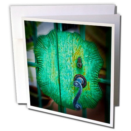 Iron Gate Door Handle Tortola in British Virgin Islands- Greeting Cards, 6 x 6 inches, set of 12 (gc_188569_2)