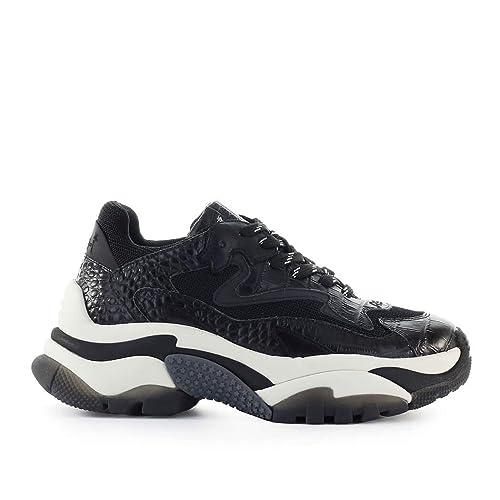 meilleur endroit pour nouvelle version prix raisonnable ASH Chaussures Femme Basket Addict Cocco Print Noir FW 19-20 ...