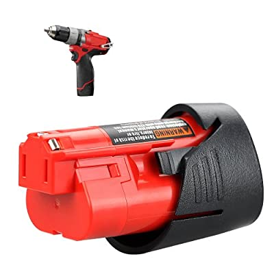 Flylinktech Milwaukee M12 Battery Replacement for Milwaukee 2462-20 2408-20 48-11-2401 48-11-2420