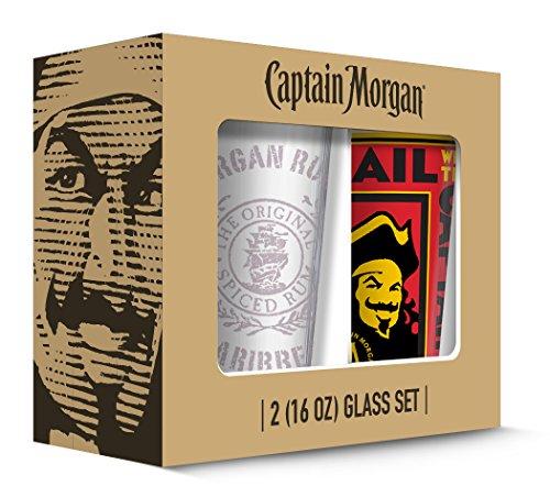 Captain Morgan Poster Pub Glass (Set of 2), Clear
