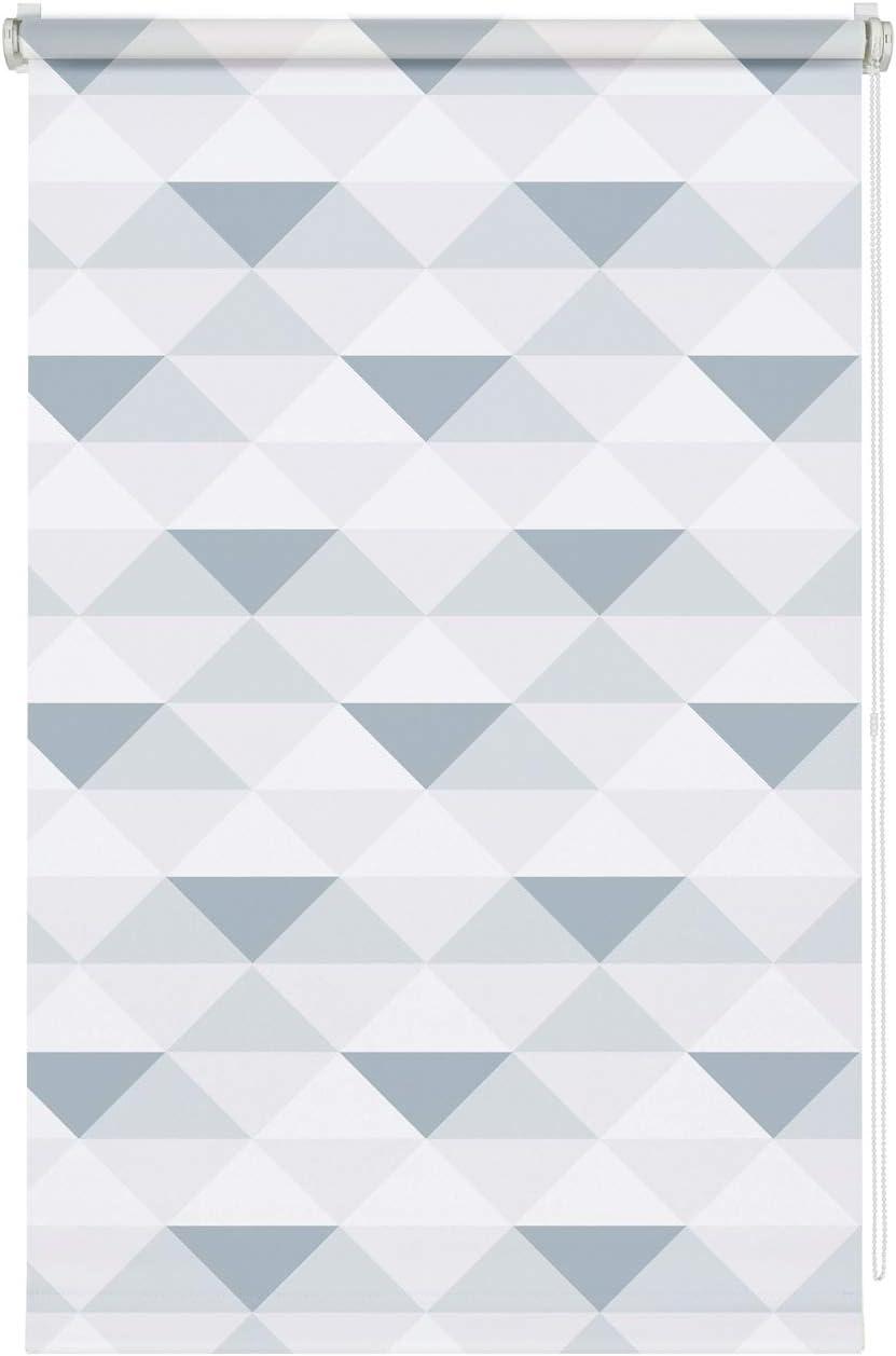 60 x 150 cm Gardinia EASYFIX dise/ño de tri/ángulos Estor Triangle Enrollable