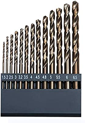 13 Pcs M35 Cobalt Twist Drill Bit Assortment Set of Super Strength