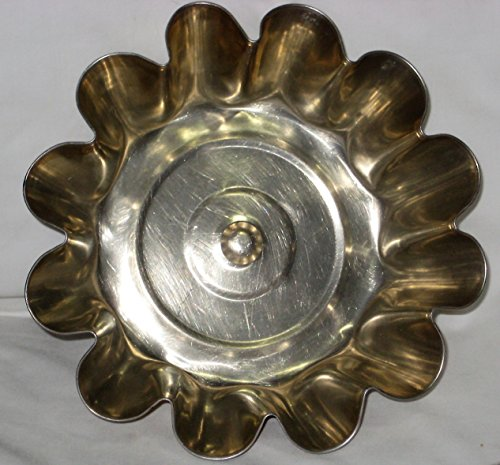 Vintage Scalloped / Crimped 8 1/2 x 3 Inch Aluminum Jell-O Mold Cake Baking Pan