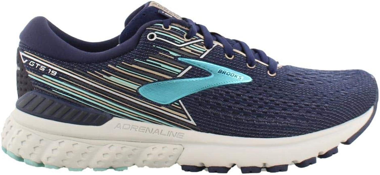Brooks Adrenaline GTS 19 Sneakers Laufschuhe Damen Marineblau/Aqua