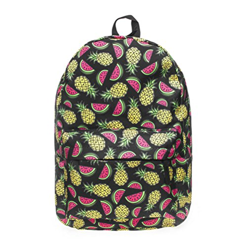 Vintage Cool Canvas Laptop Book Backpack Rucksack (Watermelon Red) - 6