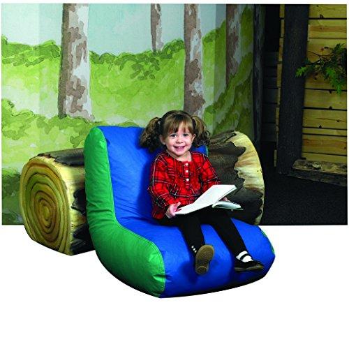 Children's Factory Preschool High Back Lounger - Blue & Green Classroom Furniture ()