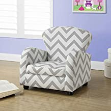 Juvenile Upholstered Chair - Grey Chevron Fabric