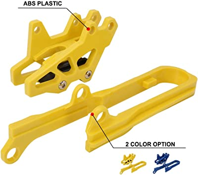 Yellow) Motorcycle Chain Slider Swingarm Guide Protector For Suzuki DRZ400 2000-2004 DRZ400E 2000-2007 DRZ400S 2000-2018