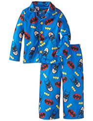 Komar Kids Little Boys' Batman Button Front Pajama Set