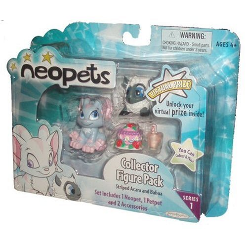 Neopets Collector Figure Pack series 1 : Striped Acara and Babaa