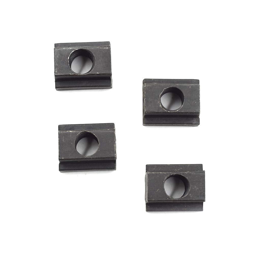 Black ABS Three Prong Plastic Knobs w//Thru Hole Brass Insert 1 dia 1//4-20 thds 1 Each