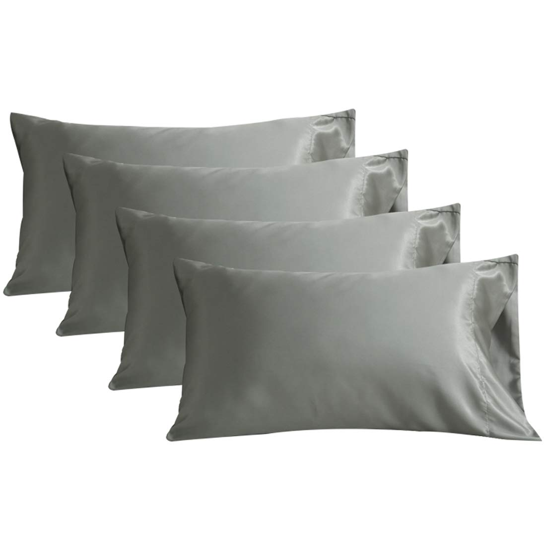 Homiest 2Pc Satin Pillowcase for Hair Standard Size//Queen Size 20x30 Taupe with Envelope Closure Shenzhenshibulaosongmaoyiyouxiangongsi