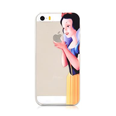 buy popular d8ead 06b41 Ultrathin SNOW WHITE Creative Eat Apple Frosted Case Phone Cover For iPhone  5/5S