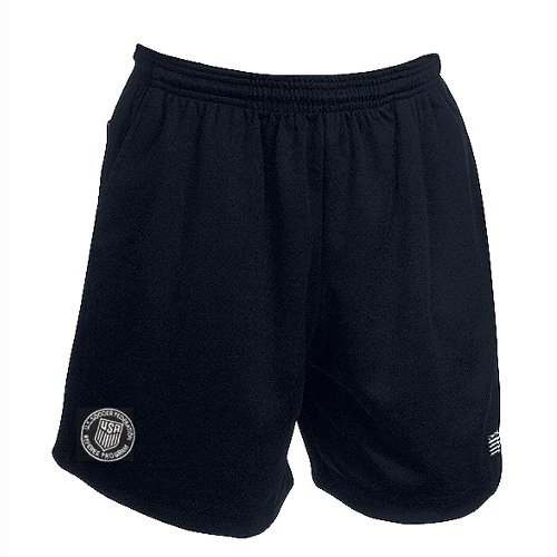 USSF Economy Black Soccer Referee Shorts (Adult Small)