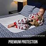 GORILLA GRIP Slip-Resistant Leak Proof Mattress Pad Protector, 52x34, Absorbs 8 Cups, Oeko Tex Certified, Waterproof Bed Wetting Incontinence Cover, Washable Hospital Grade Pads for Toddlers, Single