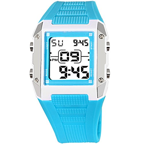 Candy Alarm Chronograph Watch - Children watch waterproof night light alarm clock electronic table candy color-C