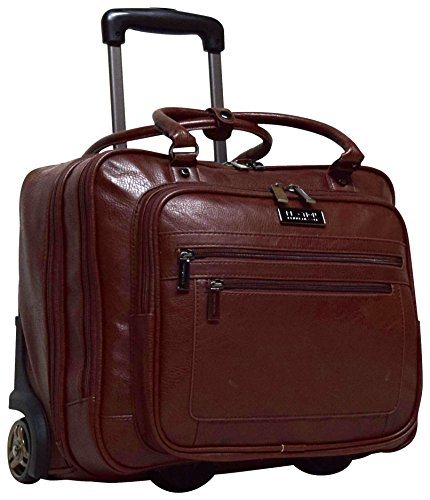 Kenneth Cole Reaction Wheel Fast Double Compartment Top Zip Wheeled Computer Case Overnighter (Brown) (Kenneth Cole Rolling)