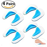 Pixnor Arch Support Insoles Gel Foot Massage Flat Feet Insoles 4 Pairs (8 Cushion Pads) Size L