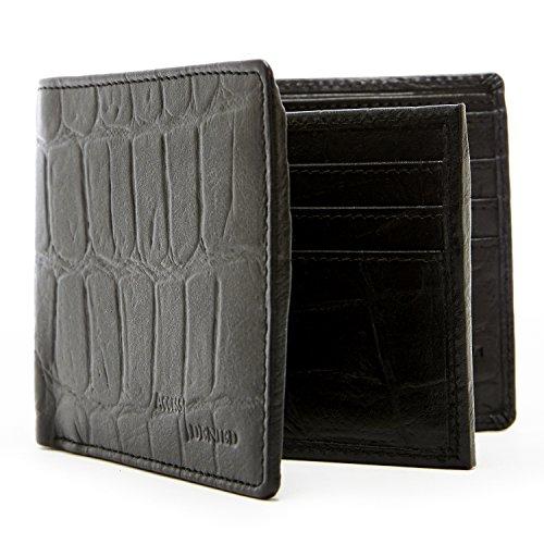 Genuine Leather Wallets Mens Blocking