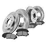 FRONT 330 mm + REAR 345 mm Premium OE 6 Lug [4] Rotors + [8] Metallic Brake Pads