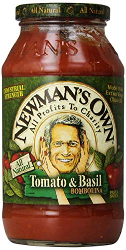 Newman's Own Tomato & Basil Pasta Sauce, 24 - Sauce Pasta Red