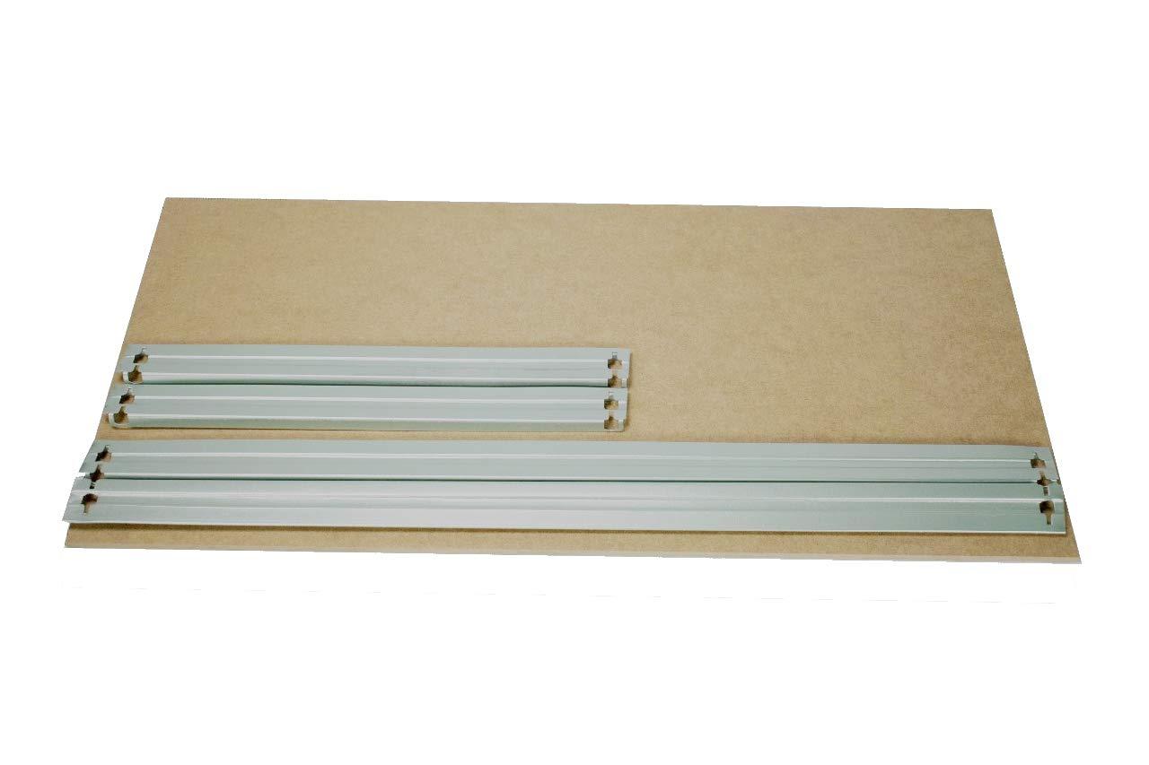 shelfplaza/® HOME HDF-Boden Komplett Set f/ür Steckregale 60x50 cm in wei/ß