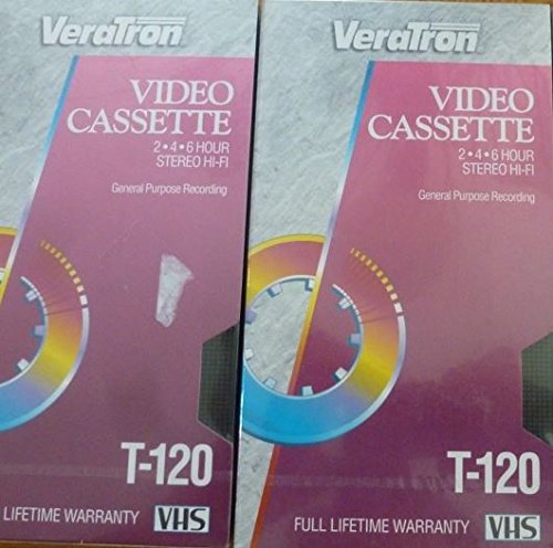 T-120 4 pack VeraTron Video Cassette