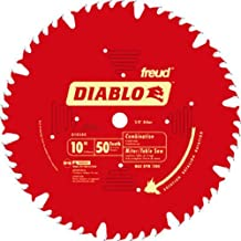 Freud D1050X Diablo 10-Inch 50 Tooth ATB Combination Saw Blade with 5/8-Inch Arbor and PermaShield Coating