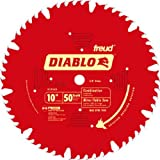 "Freud D1050X Diablo 10"" 50-tooth ATB Combination Saw Blade w/ 5/8"" Arbor & PermaShield Coatin"